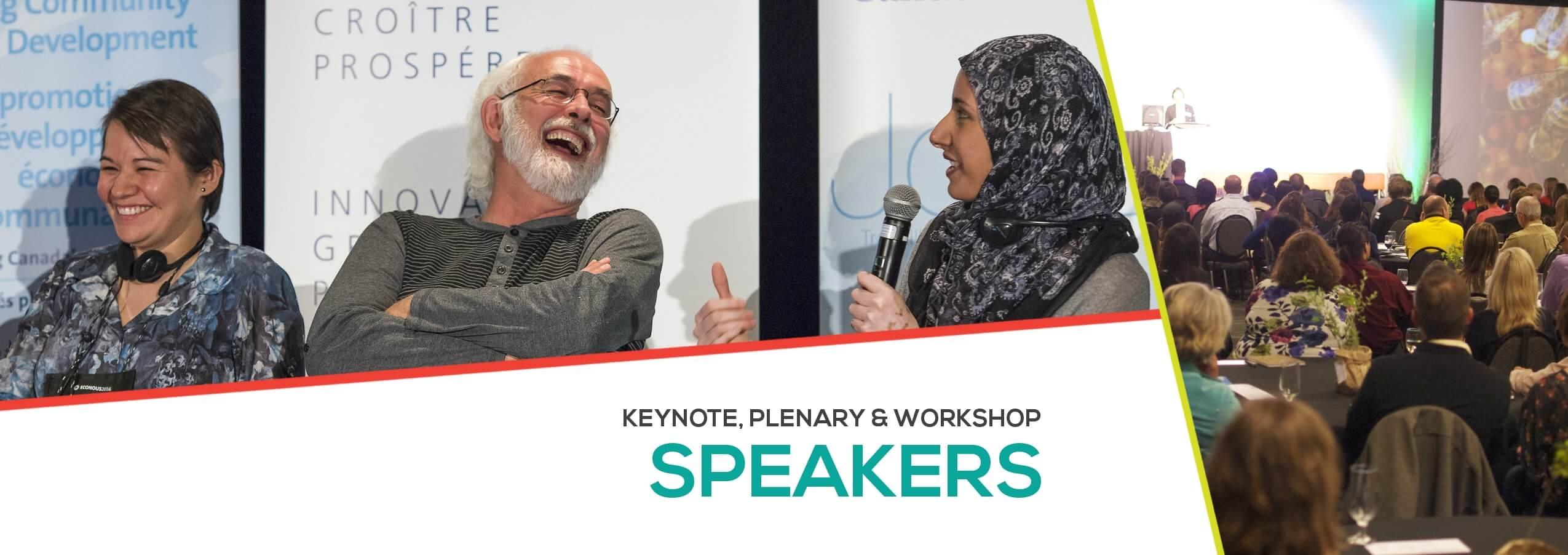 Keynote, PLenary & Workshop Speakers