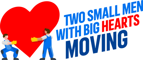 Two Small Men with Big Hearts Moving logo